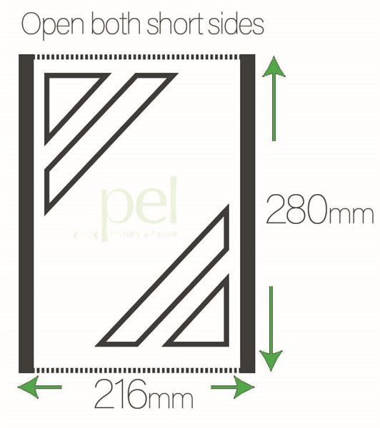 280mm x 216mm 75 Micron Polyester Sleeves