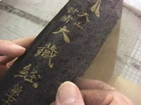 Tengu used in leather book conservation