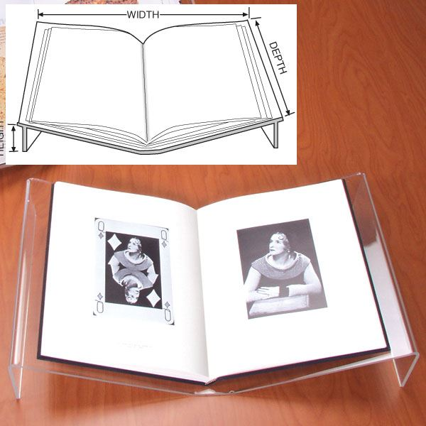 Flat Open Book Stand