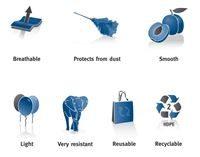 Properties of tyvek rolls